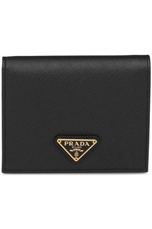Prada Logo plaque wallet