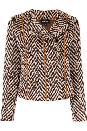 Armani Chevron embroidered jacket