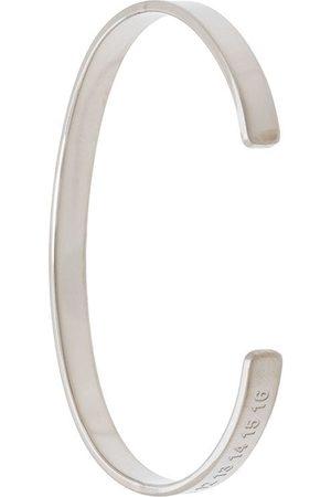 Maison Margiela Engraved thin cuff bracelet