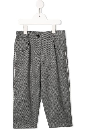 Emporio Armani Girls Formal Pants - Zigzag patterned tailored trousers