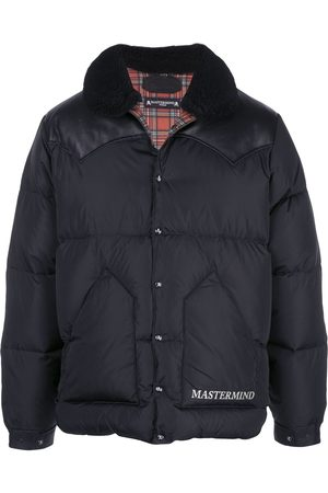 MASTERMIND JAPAN Men Leather Jackets - Leather-panelled puffer coat