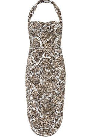Norma Kamali Exclusive to Mytheresa – Bill snake-print jersey halter dress