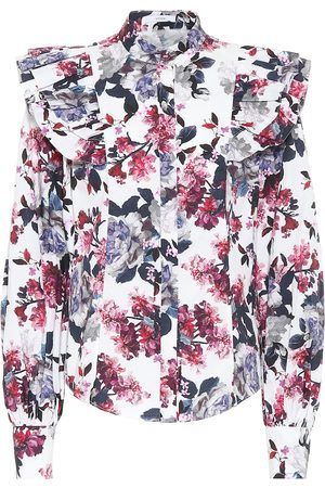 Erdem Caternia floral cotton top