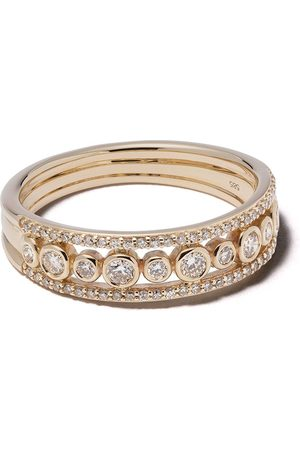 ASTLEY CLARKE Women Rings - 14kt gold diamond Triple Icon Nova ring
