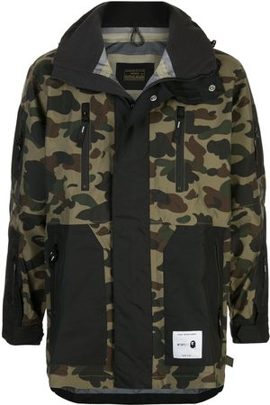 BAPE X Wtaps camouflage zip-up jacket