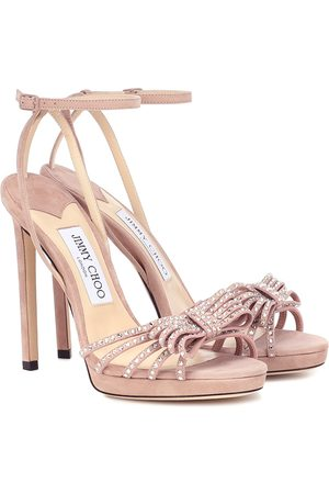 Jimmy choo Kaite 120 embellished suede sandals
