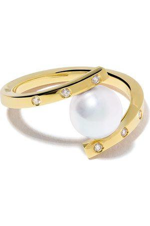 Tasaki 18kt A Fine Balance diamond and Akoya pearl ring