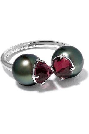 Tasaki 18kt Refined Rebellon Signature garnet and South Sea pearl ring