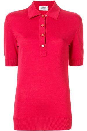 CHANEL Logo buttons polo shirt