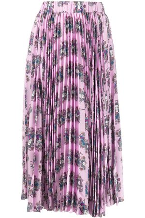 La DoubleJ Demeter Goddess pleated midi skirt