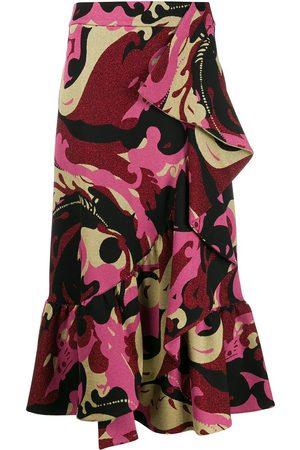 La DoubleJ Jazzy ruffled midi skirt