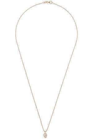 Anita 18kt rose small palm leaf pendant necklace