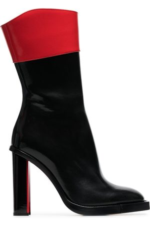 Alexander McQueen And red hybrid 105 leather boots