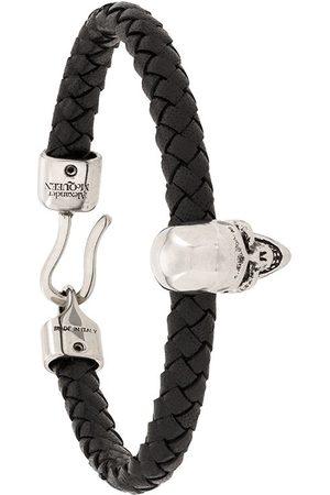 Alexander McQueen Skull charm braided bracelet