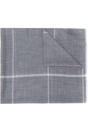 N.PEAL Checked print scarf