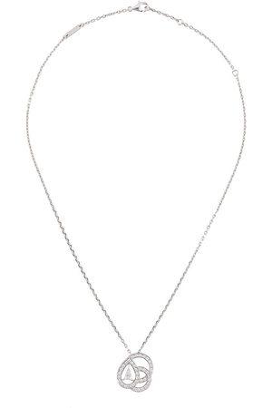 Boucheron 18kt white gold diamond pendant necklace