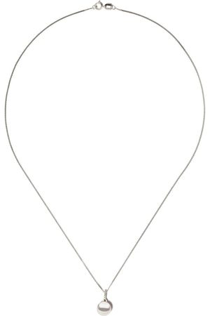 Yoko London Women Necklaces - 18kt white gold Classic freshwater pearl and diamond pendant necklace