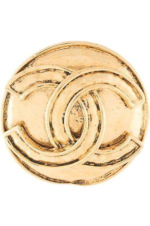 CHANEL CC medallion brooch