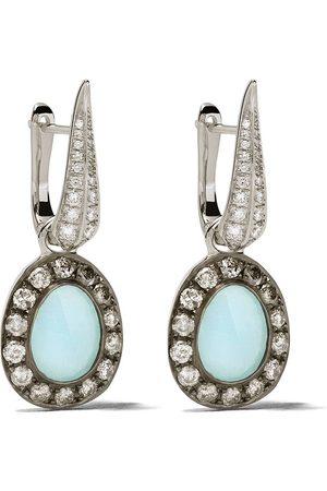 ANNOUSHKA 18kt white gold diamonds drop earrings