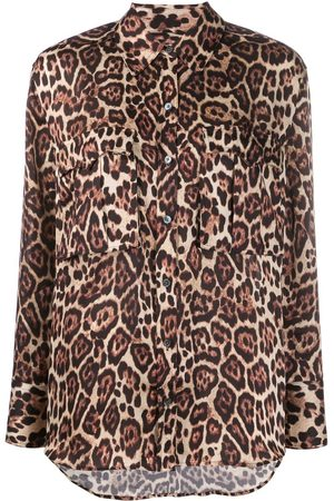 Equipment Leopard print long sleeve shirt