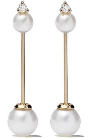 Mizuki 14kt diamonnd Kanzashi earrings