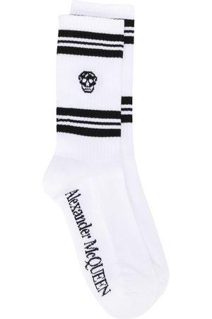 Alexander McQueen Ribbed skull print ankle socks