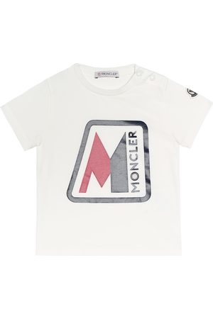 Moncler Baby logo stretch-cotton T-shirt