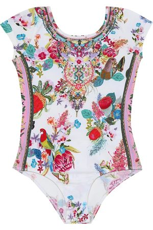 Camilla Floral stretch-cotton bodysuit