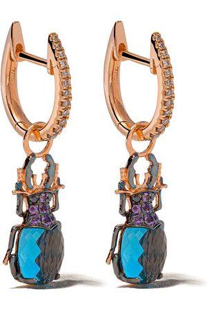 ANNOUSHKA 18kt rose gold Mythology beetle earrings