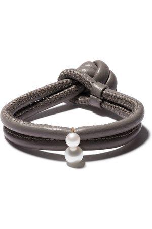 Mizuki 14kt pearl wrap bracelet