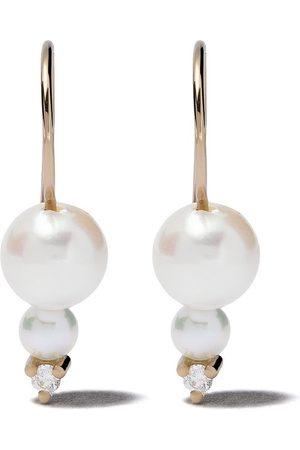 Mizuki 14kt Sea of Beauty double akoya pearl diamond earrings