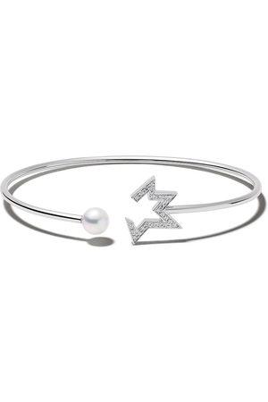 Tasaki 18kt Comet Plus diamond and pearl bangle