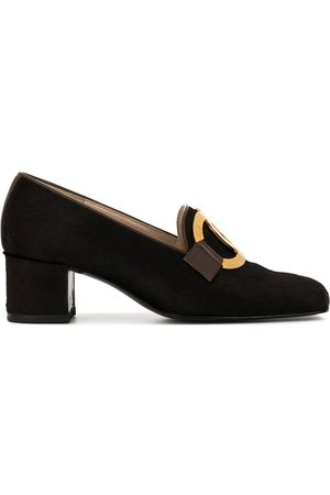 CHANEL CC heeled loafers