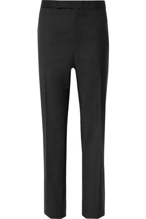 RICHARD JAMES Satin-trimmed Wool And Mohair-blend Tuxedo Trousers