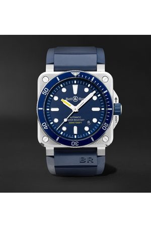 Bell & Ross Br 03-92 Diver Automatic 42mm Stainless Steel And Rubber Watch, Ref. No. Br0392-d-bu-st/srb