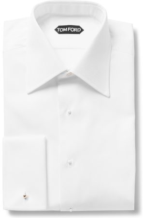 Tom Ford Slim-fit Bib-front Double-cuff Cotton Tuxedo Shirt