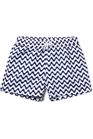 Frescobol Carioca Copacabana Slim-fit Short-length Printed Swim Shorts