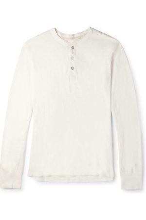 RAG&BONE Men Long Sleeve - Cotton-Jersey Henley T-Shirt