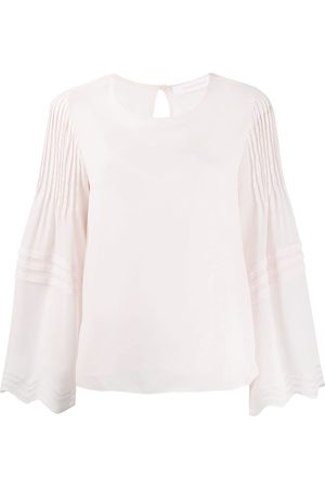 See by Chloé Pleated long-sleeve blouse
