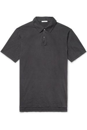 James Perse Supima Cotton-jersey Polo Shirt