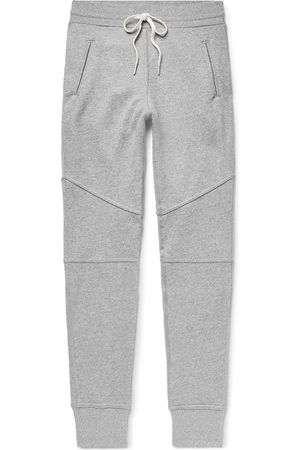 JOHN ELLIOTT Men Skinny Pants - Escobar Slim-Fit Tapered Loopback Cotton-Blend Jersey Sweatpants