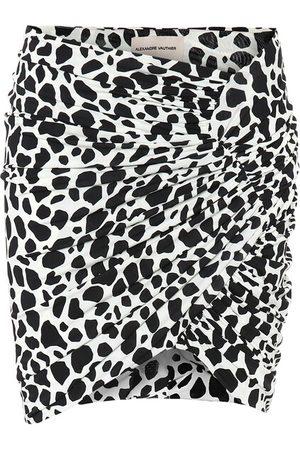 ALEXANDRE VAUTHIER Exclusive to Mytheresa – Animal-print stretch-jersey miniskirt