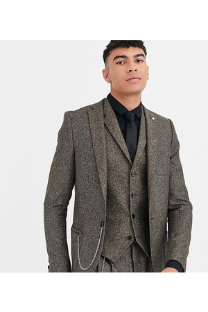 Twisted Tailor Tall super skinny suit jacket in herringbone