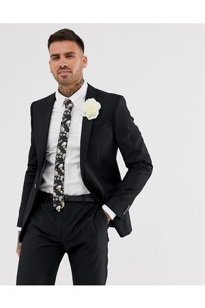 River Island Wedding skinny suit jacket in