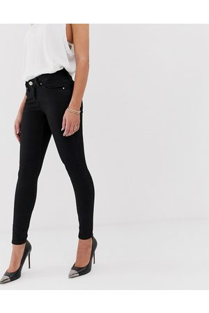 ASOS Lisbon mid rise skinny jeans in clean in ankle grazer length