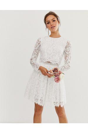 ASOS Crop top lace mini wedding dress