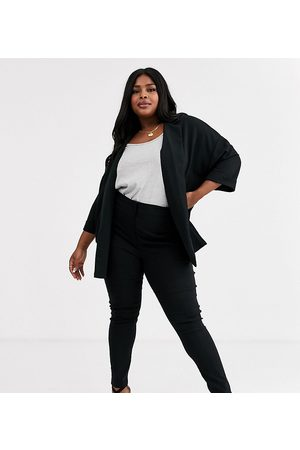 ASOS Curve ASOS DESIGN Curve high waist trousers in skinny fit