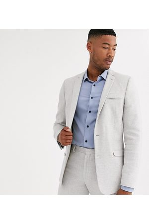 ASOS Tall wedding skinny suit jacket in ice twill