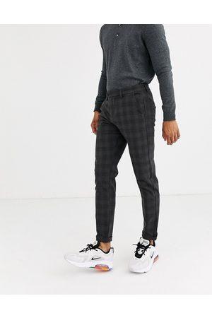 Jack & Jones Intelligence smart check trousers in