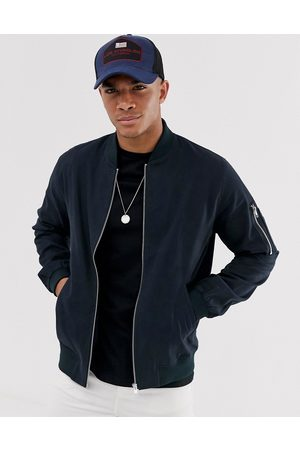 ASOS Bomber jacket with MA1 pocket in